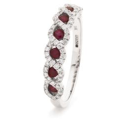 HRRGRY1000 Ruby & Diamond Designer Eternity Ring - white
