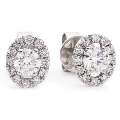 HER148 Round Designer Diamond Earrings - white
