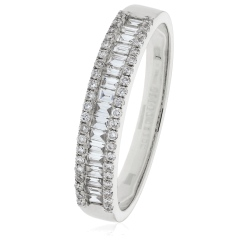 0.33ct Round Edge Diamond Eternity Ring - white
