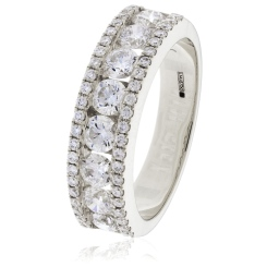 HRRHE963 0.55ct Round 9 StoneEternity Ring - white