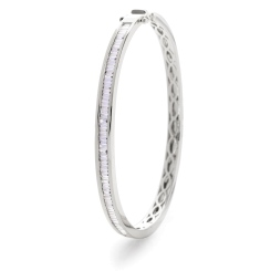 HBPDB060 Princess cut Channel Set Designer Diamond Bangle - white