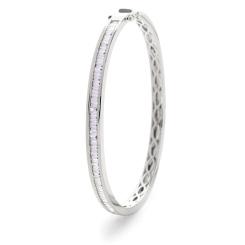 HBPDB060 Princess cut Channel Set Designer Diamond Bangle - white