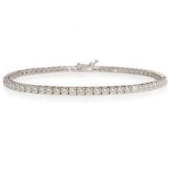 HBR1951 2.09CT SI/HI ROUND DIAMOND TENNIS BRACELET - white