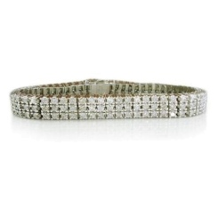 HBR1956 6.00CT I1/FG ROUND DIAMOND TENNIS BRACELET - white