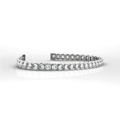 HBR1966 2.00CT SI/G ROUND DIAMOND TENNIS BRACELET - white