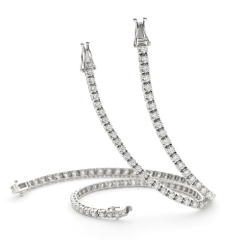HBR1990 1.25CT SI/FG ROUND DIAMOND TENNIS BRACELET - white