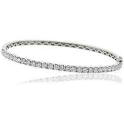 HBRDB056 Round cut Diamond Bangle - white