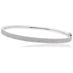 HBRDB063 Micro Pave Diamond Bangle - white