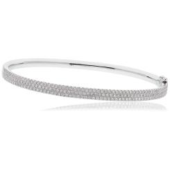 HBRDB063 Micro Pave Diamond Bangle - white