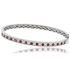 HBRDBGRY071 Ruby & Diamond Diamond Bangle - white