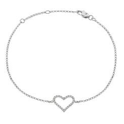 HBRDR031 Designer Round cut Delicate Diamond Bracelet - white