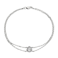 HBRDR037 Pear Shape Delicate Diamond Bracelet - white