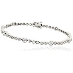 HBRDR043 Bezel Diamond Line Bracelet - white