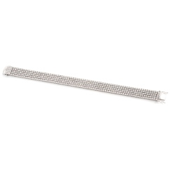 HBRFR081 Five Row Round cut Diamond Bracelet - white