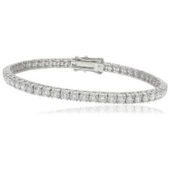 HBRSR073 Single Row Twisted Claw Diamond Tennis Bracelet - white