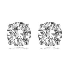HER1976 0.30CT VS/F ROUND DIAMOND STUD EARRINGS - white