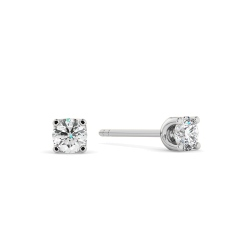 HER400 0.30 Round cut Diamond Stud Earrings - Premium Quality - white