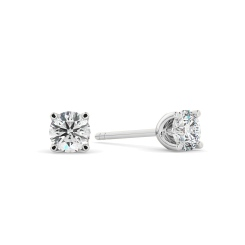 HER402 0.50 Round cut Diamond Stud Earrings - Premium Quality - white