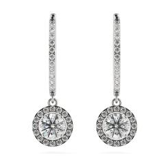 HER69 Round Designer Diamond Earrings - white