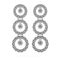 HERDR71 Round Designer Diamond Earrings - white