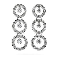 HERDR71 Round Designer Diamond Earrings - white
