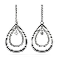 HERDR72 Round Designer Diamond Earrings - white