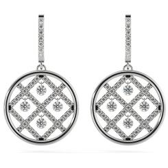 HERDR73 Round Designer Diamond Earrings - white