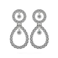 HERDR74 Round Designer Diamond Earrings - white