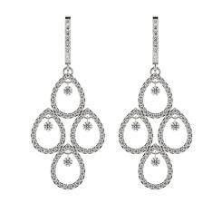 HERDR75 Round Designer Diamond Earrings - white