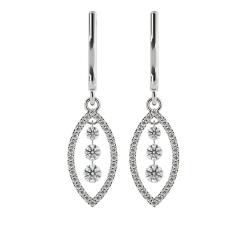HERDR76 Round Designer Diamond Earrings - white