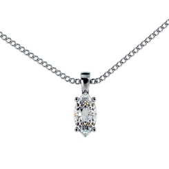 HPM55 Marquise Solitaire Pendant - white