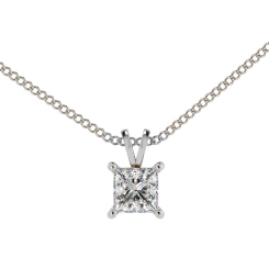 HPP49 Princess Solitaire Pendant - white