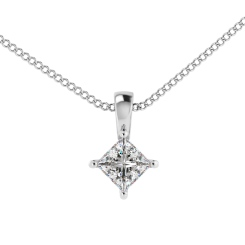 HPP52 Princess Solitaire Pendant - white