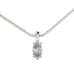 HPP56 Princess Solitaire Pendant - white