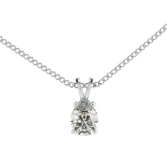 HPPE50 Pear Solitaire Pendant - white