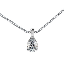 HPPE54 Pear Solitaire Pendant - white