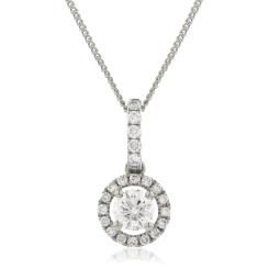 HPR150 Round cut Designer Diamond Pendant - white