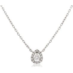 HPR152 Round cut Designer Diamond Pendant - white