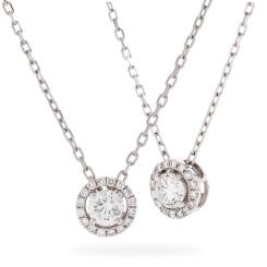 HPR155 Round cut Designer Diamond Pendant - white