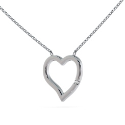 HPR20 Round Heart Shape Diamond Pendant - white