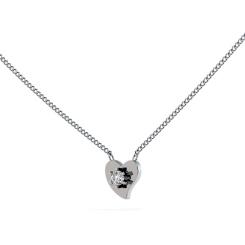 HPR21 Round Heart Shape Diamond Pendant - white