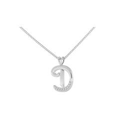 D Alphabet Pendant - white