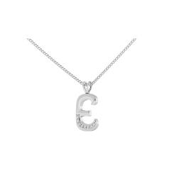E Alphabet Pendant - white