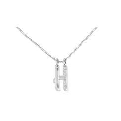 H Alphabet Pendant - white