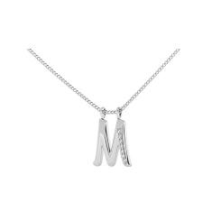 M Alphabet Pendant - white