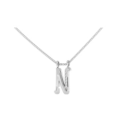 N Alphabet Pendant - white
