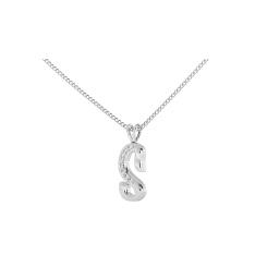 S Alphabet Pendant - white