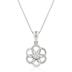 HPRDR122 Round Designer Diamond Pendant - white