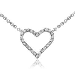 HPRDR147 Round cut Designer Diamond Pendant - white