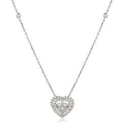 HPRDR157 Round cut Designer Diamond Pendant - white